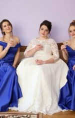 Сукні для дружок синього кольору.
